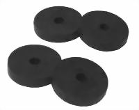 Rubber Tap Washers 10.0mm(3/8'') Flat Black  ( 10)