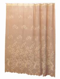 Vinyl Shower Curtain Lace Printed (Double)