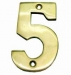 Numerals ''5'' 40mm Lacquered Brass (Carded)