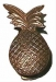 Door Knocker 'Pineapple' Antique Brass (Carded)