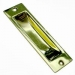 Medium Flush Pull Handle 115mm x 34mm Polished Brass (Polybag)