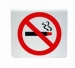'NO SMOKING' Symbol Only Table Sign Red On White (Pack 5)